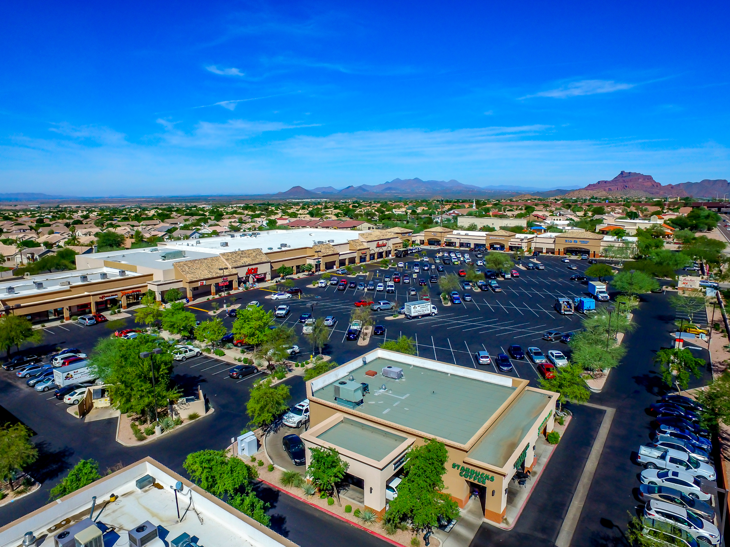 Ridgeview Shopping Center Aerial